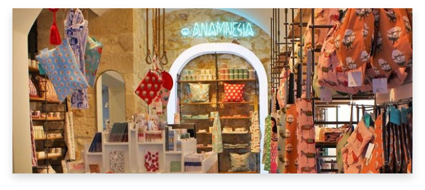 memorabilia from Greece. gifts and accessories in bright colors from Anamnesia's collection