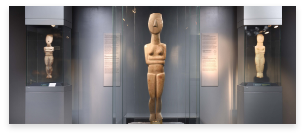 ancient Greek art finding, a famous Cycladic sculpture