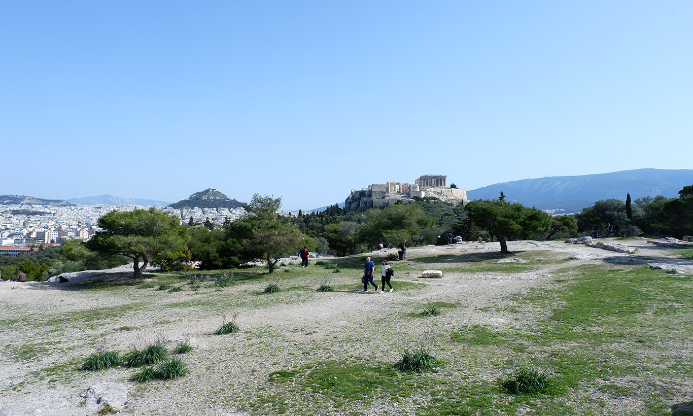 Pnyka hill. One of Athens' western hills