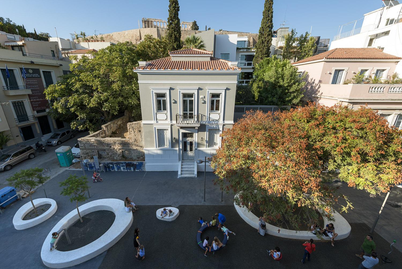Playground of the new age. Kallisperi playground, under the Acropolis